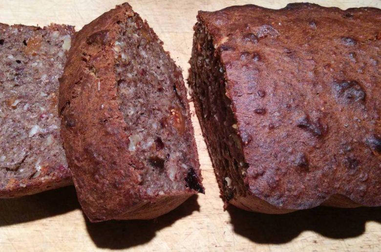 sugar free vegan banana buckwheat bread